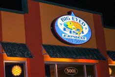 Big Eyed Fish Sign
